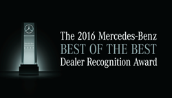 Mercedes-Benz 2016 Best of the Best Dealer Recognition Award, Mercedes-Benz of Baton Rouge