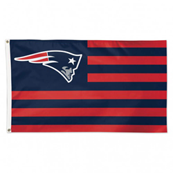 Officially licensed New England Patriots Americana Flag.