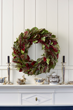 Give instant elegance when you gift this richly colored and textured wreath.