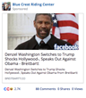 Facebook Ad Placed on Election Day 2016 Claims Denzel Washington Endorsed Trump