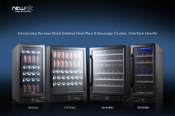 NewAir Black Stainless Steel Wine & Beverage Coolers