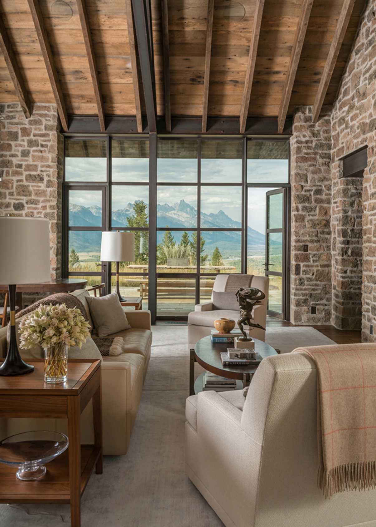 stunning award winning living room interiors | WRJ Design Jackson Hole Home Interiors Featured in New ...