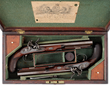Pair of Cased Joseph Manton Flintlock Dueling Pistols, estimated at $30,000-40,000.