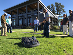 Super-Sod employee training with Automower 430X model