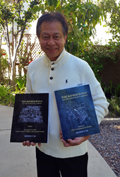 "Author Kenneth T. So with ""Khmer Kings and the HIstory of Cambodia"" Vols 1 and 2."