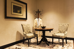 Rooms are designed for the patient and doctor to sit down together in a warm and inviting atmosphere