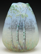 Daum Cameo And Enameled Broken Egg Vase, estimated at $6,500-8,000.