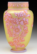 Webb Three Color Cameo Vase, estimated at $2,000-3,000.