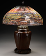 Handel Mountain Stream Table Lamp, estimated at $20,000-30,000.