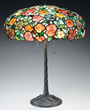 Morgan Pansy Table Lamp, estimated at $18,500-22,500.