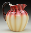 Plated Amberina Pitcher, estimated at $3,500-4,000.