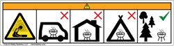 Clarion's design for a wordless barbeque grill safety label
