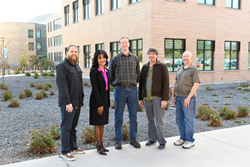 SLCC's faculty-led team Daniel Poole (l-r), Deidre Tyler, Jason Pickavance, Dan Carpenter and Tim Beagley.