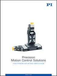 New Catalog of Medium Load Precision Motorized Positioning Systems