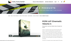 FCPX Plugins and Effects - FCPX LUT Cinematic Volume 4 - Pixel Plugins
