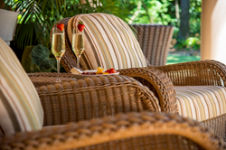 Trellis Chairs & Champagne