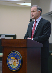 Attorney Richard Pullano at The North Suburban Bar Associations 4th Annual High School Mock Trial Invitational