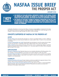 NASFAA's PROSPER Act Policy Issue Brief