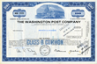 Washington Post Stock Certificate