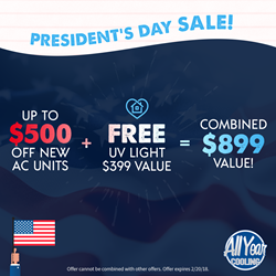 All Year Cooling President's Day Sale Coupon