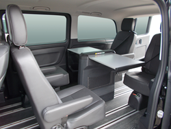 TransitWorks mobile office and executive shuttle van.