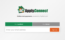 no cost tenant screening and online rent collection using ApplyConnect and PayRent
