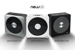 NewAir QuietHeat15 in White, Black & Silver