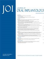 Journal of Oral Implantology 44.2 Cover