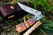 "DKC Knives Releases New Model: The Handcrafted Damascus Steel ""CHEIF"" Foldable Pocket Knife"