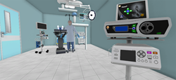 Virtual Reality of OR suite with BFW Inc. products at AORN conference