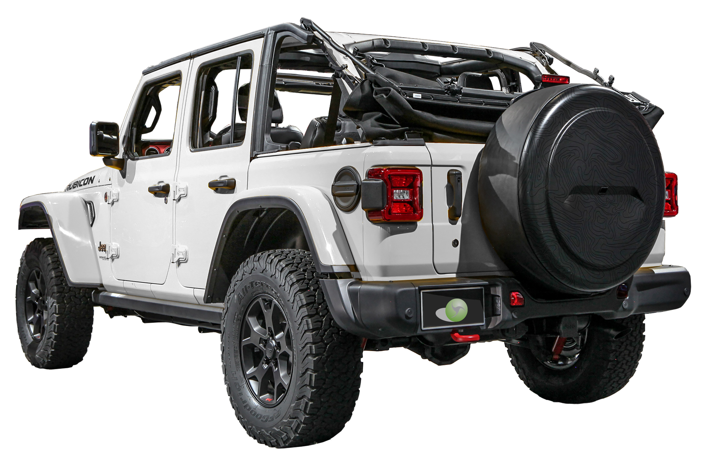 Boomerang Jeep Wrangler JL Rigid™ Tire Cover With Topo Map GraphicBoomerang Jeep  Wrangler JL Rigid™ Tire Cover With Topo Map Graphic