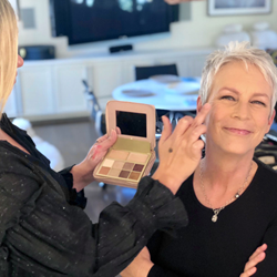Jamie Lee Curtis wearing the b-glowing BEAUTY™ Illuminate + Shine™ Palette