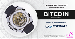 CoinGate partners with Louis Chevrolet Swiss Watches
