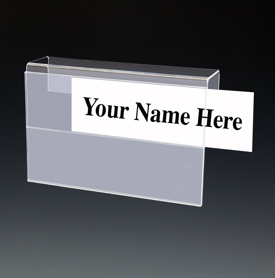 Acrylic Multi-Tier Name Plate Holders for Cubicles, Walls ...