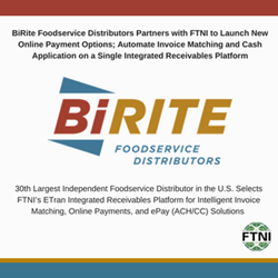FTNI and BiRite Announce New Integrated Receivables Partnership