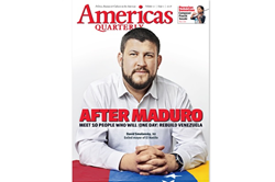 David Smolansky, 32 Exhiled Mayor of El Haltillo, Venezuela on Cover Page of Americas Quarterly Issue 2