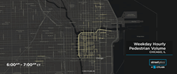 Citilabs' Streetlytics provides complete hour-by-hour pedestrian volume analytics for the entire United States