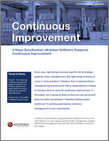 Continuous improvement 4 ways with eKanban software