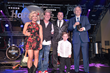 Angie and Joe Finley of The Swansons, Alternative Country Rock/Pop band at the 2018 Las Vegas F.A.M.E Awards - Presents Mike Curb of Curb Records with a Lifetime Achievement Award
