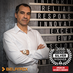 Alex Robbio, CEO and co-founder of Belatrix, was named a Stevie Award winner in the Executive Of The Year category