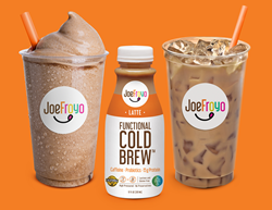 JoeFroyo Functional Cold Brew™ is a lactose-free coffee beverage that combines the kick of cold brew with probiotics and protein, provided by premium drinkable yogurt. JoeFroyo hopes to reach health-conscious, under-caffeinated, lactose intolerant and lactose sensitive customers in the grocery, convenience store, hospitality, concession and cafeteria industries.