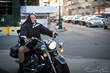 Combar Nuns' Dot Marie Jones rides in on her motorcycle at the Artemis Awards Gala 2018 (Photo: Bobby Pin)