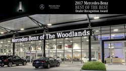 Mercedes-Benz of The Woodlands is awarded 2017 Mercedes-Benz Best of the Best Dealer Recognition Award
