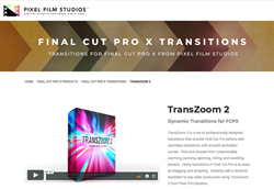 Pixel Film Studios Announces TransZoom 2 for Final Cut Pro X