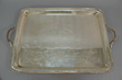 Sterling silver monogrammed handled tray, estimated at $2,000-3,000.