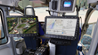 CarteNav's AIMS-ISR® shown in the cockpit of a police helicopter. CarteNav selected TerraLens as the geospatial engine for the next generation of the AIMS-ISR software.