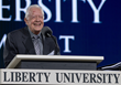 President Jimmy Carter speaks at Liberty University's 2018 Commencement.