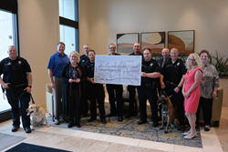 Meridian Police Department K9 Unit presented with check
