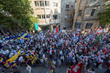 Flags and Marchers flood the streets of Jerusalem