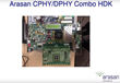 Arasan and Test Evolution announce Industry's first C-PHY / D-PHY Combo Compliance Analyzer with Arasan's Total MIPI IP Solution